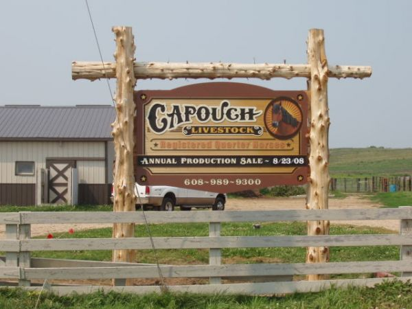 Capouch Livestock Sign